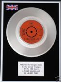 "JOHNNY CASH  -  7"" Platinum Disc - A THING CALLED LOVE"